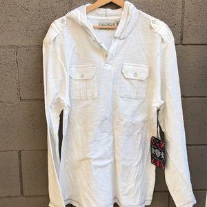 Men's lightweight white hoodie